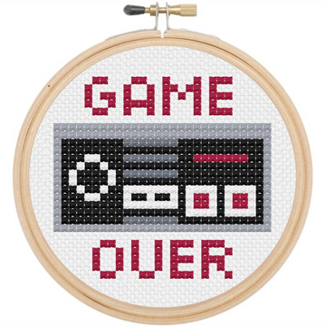 Spot Colors Cross Stitch Kit | Game Over