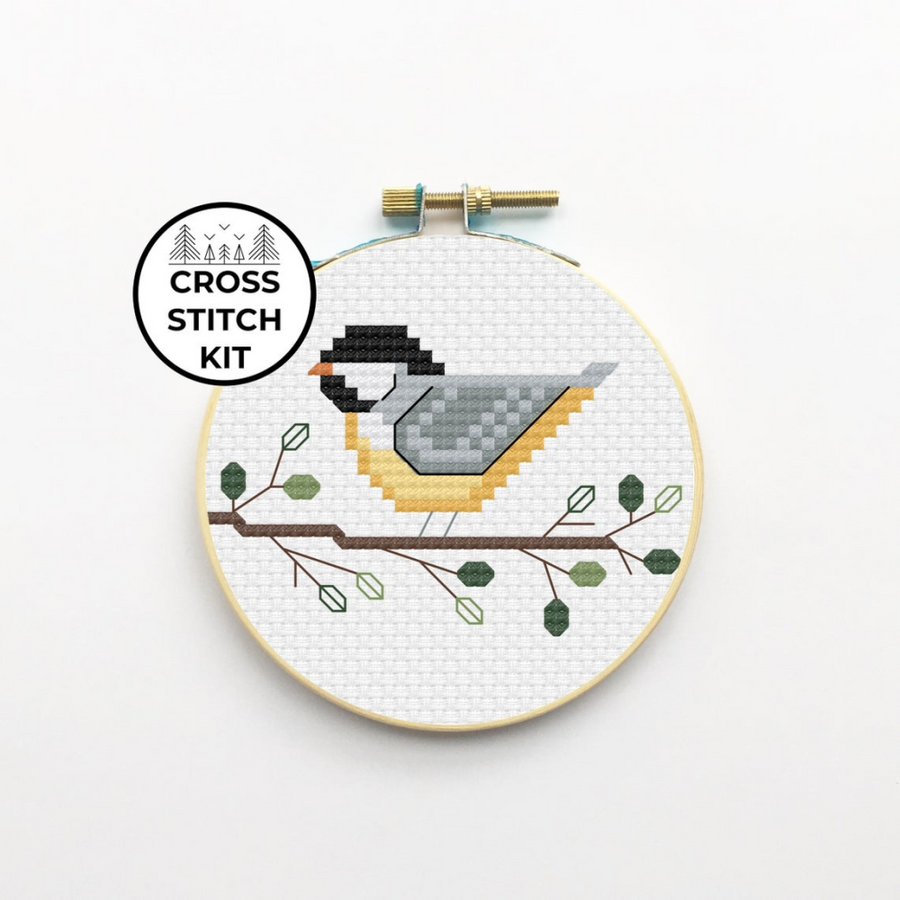 Pigeon Coop Cross Stitch Kit - Chickadee