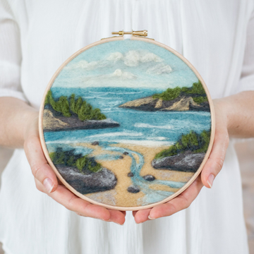 Felted Sky Painting with Wool Kit - Coastal Waters