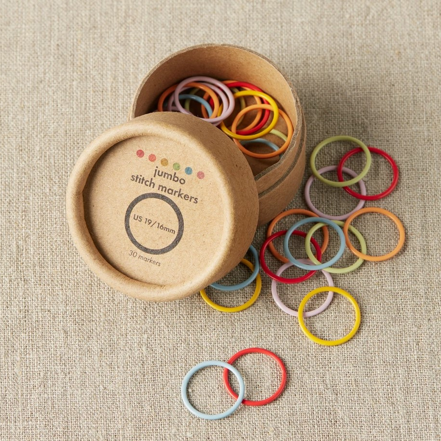 Coloured Ring Stitch Markers - Jumbo