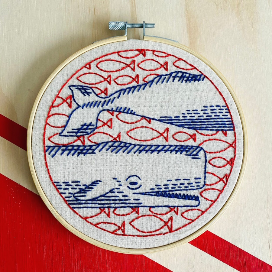 Hook, Line & Tinker Embroidery Kit - Level 1