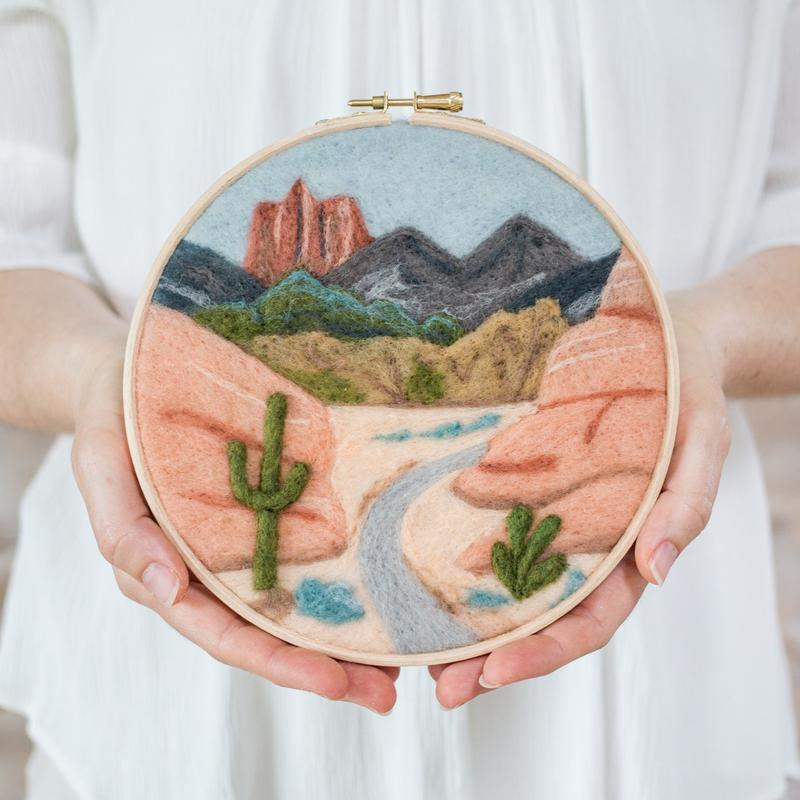 Felted Sky Painting with Wool Kit - Desert Trail