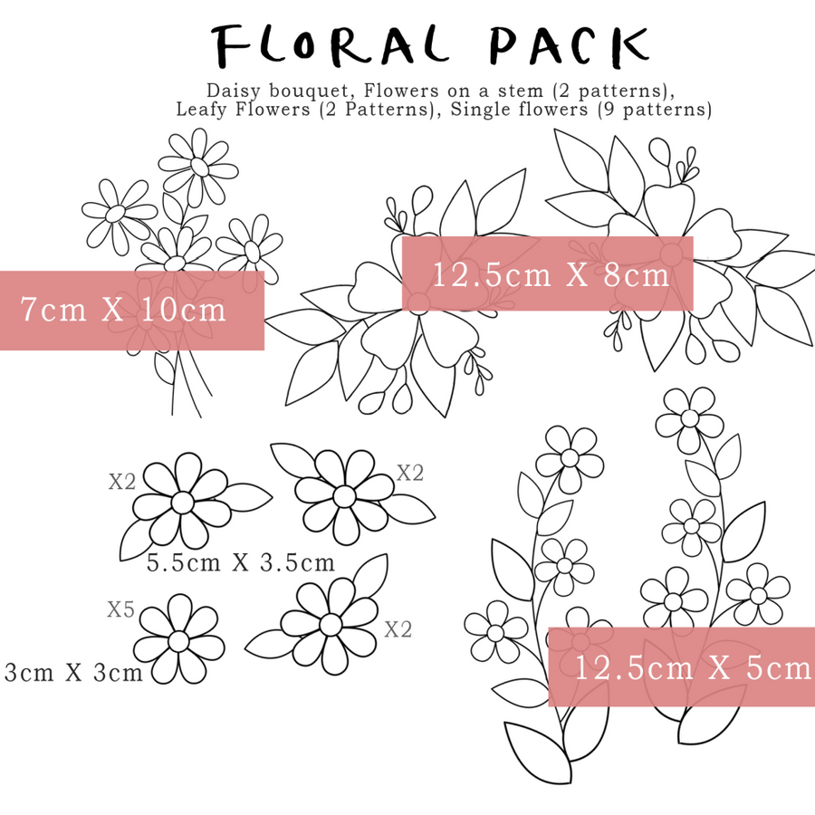 Florals & Floss Stick & Stitch Packs
