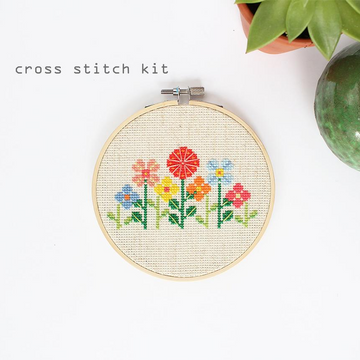 Diana Watters Flower Garden Cross Stitch Kit