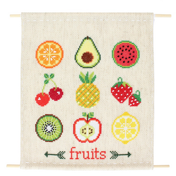 Diana Watters Fruit Sampler Cross Stitch Kit