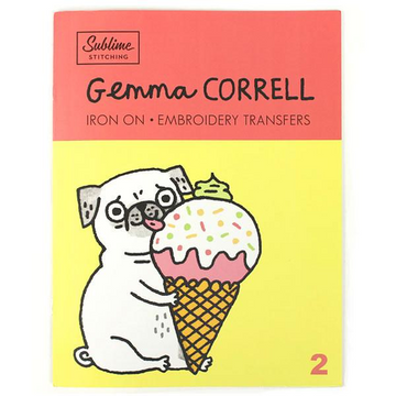 Gemma Correll Iron On Embroidery Transfers