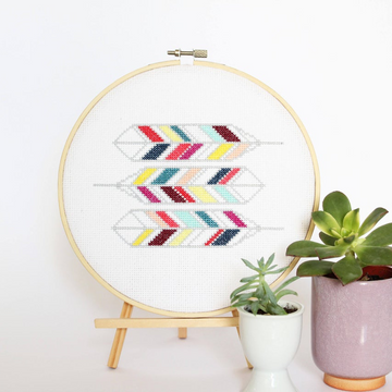Diana Watters Geometric Feathers Cross Stitch Kit