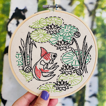 Hook, Line & Tinker Embroidery Kit - Level 2