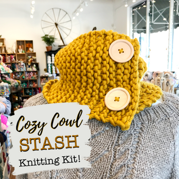 Cozy Cowl Kit by STASH Lounge - Beginner Knitting Kit