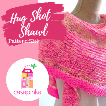 Hug Shot by Casapinka - Shawl Kit