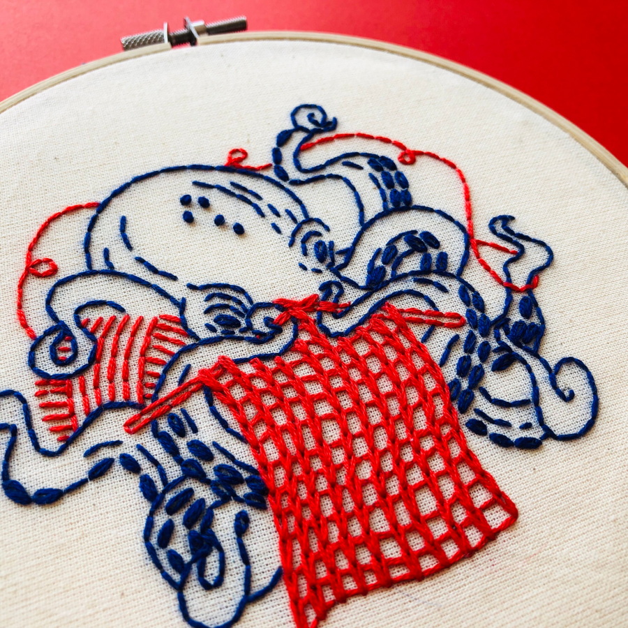 Hook, Line & Tinker Embroidery Kit - Level 3