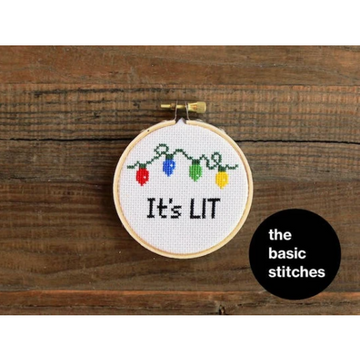The Basic Stitches Cross Stitch Kit - It's Lit