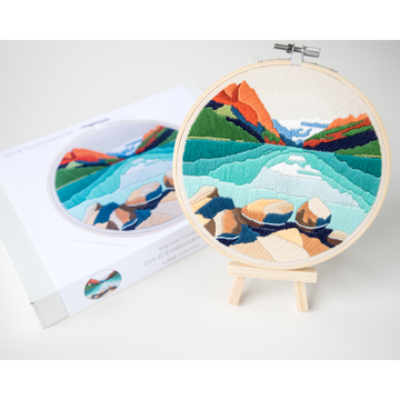 Anna Angiel Embroidery Kit | Lake Louise