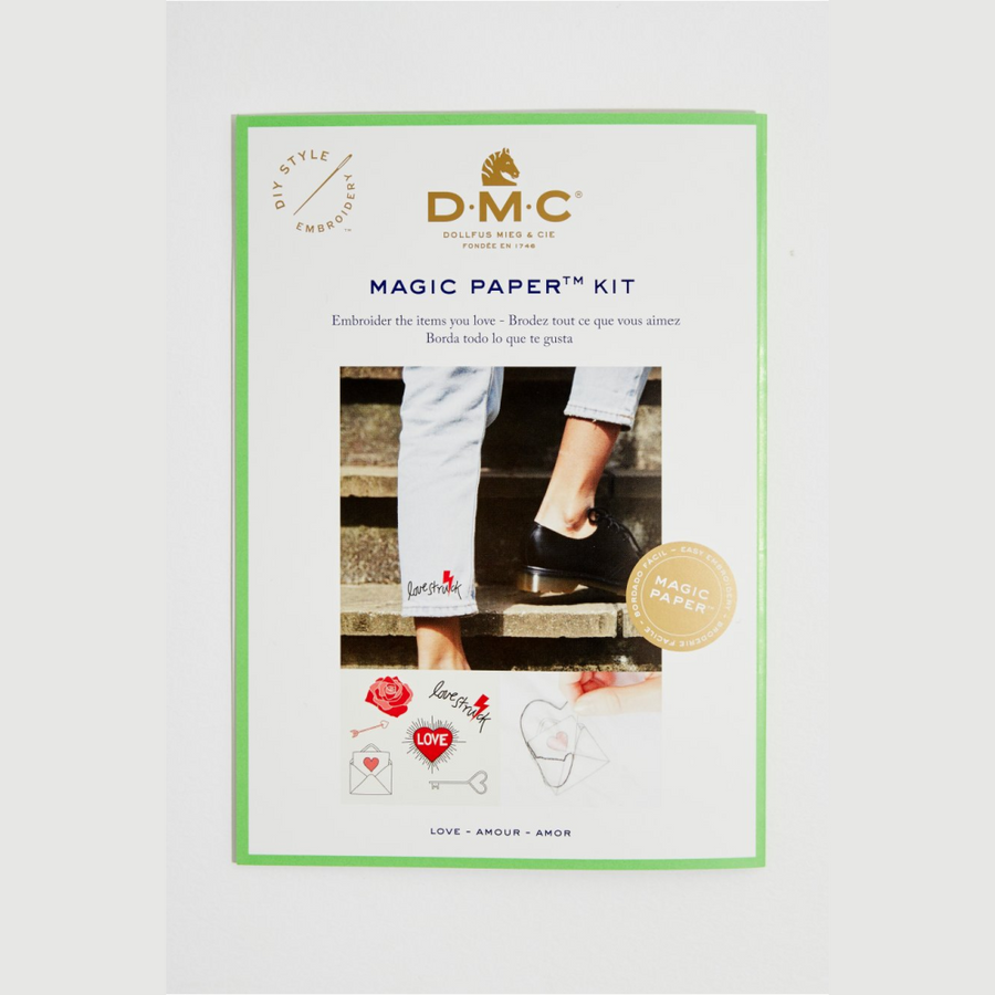DMC Magic Paper Kit - Embroidered Hearts