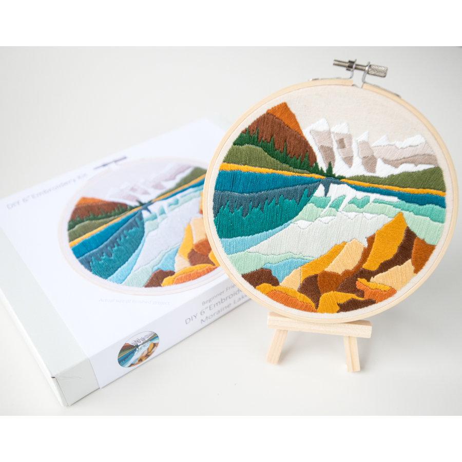 Anna Angiel Embroidery Kit | Moraine Lake