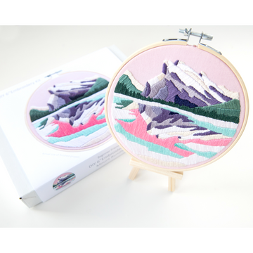 Anna Angiel Embroidery Kit | Mount Rundle