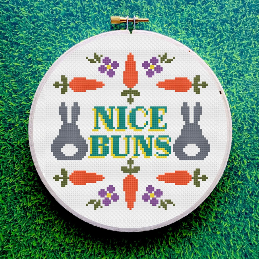 Spot Colors Cross Stitch Kit | Nice Buns