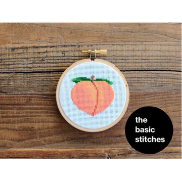 The Basic Stitches Cross Stitch Kit - Peach Emoji
