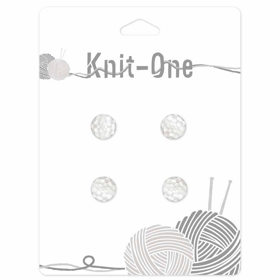 Knit-One Buttons - Pearl