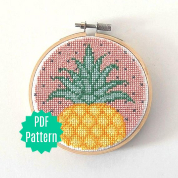 WistfulBird Cross Stitch Kit - Pineapple