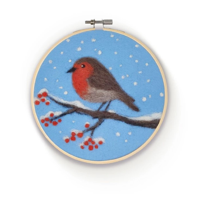 Felting Kit: Robin in a Hoop