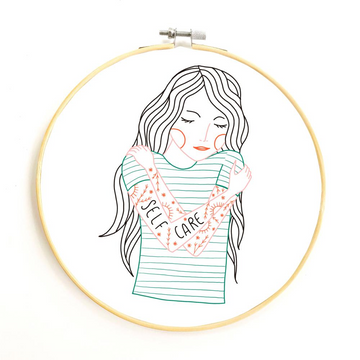 Gingiber Embroidery Kit - Self Care