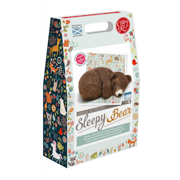 Sleepy Brown Bear Felting Kit