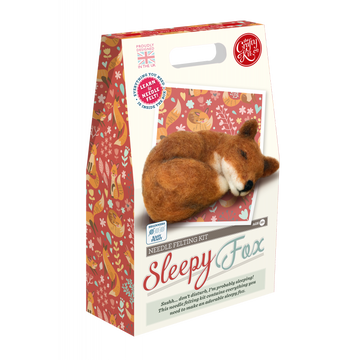 Sleepy Fox Felting Kit