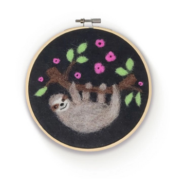 Felting Kit: Sloth in a Hoop