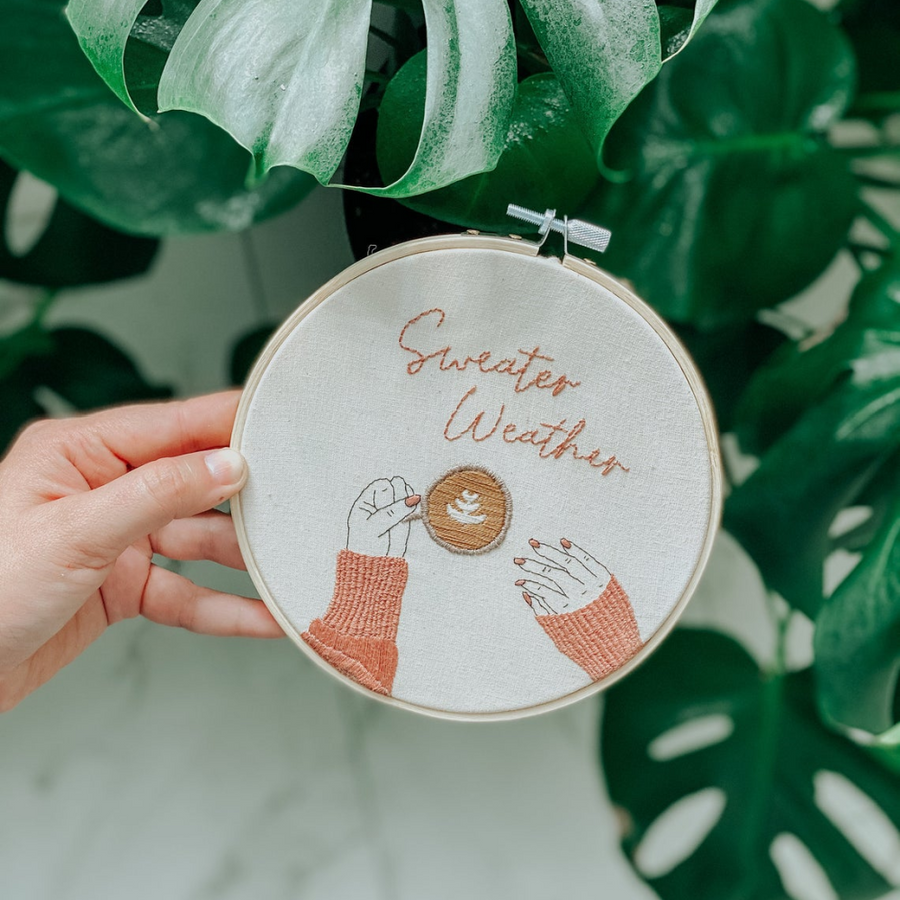 Sunday Mornings Shop Embroidery Kit - Sweater Weather