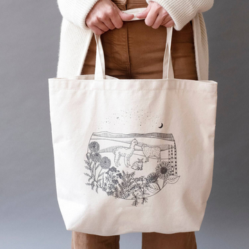 Echoview Friends & Flowers Tote Bag