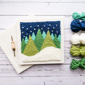 Made Laine Punch Needle Kit | Trees (Night)