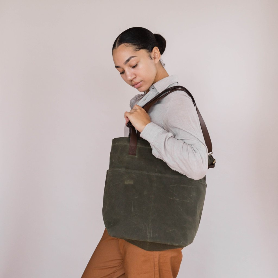 Twig & Horn Waxed Canvas Crossbody Tote