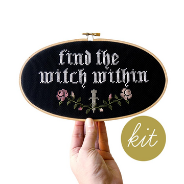 Junebug and Darlin Find the Witch Within Cross Stitch Kit