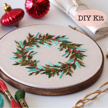 Femmebroidery Embroidery Kit | Wreath
