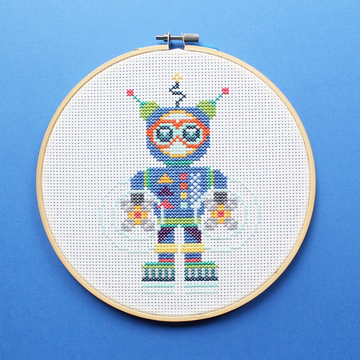 Diana Watters Robot Cross Stitch Kit