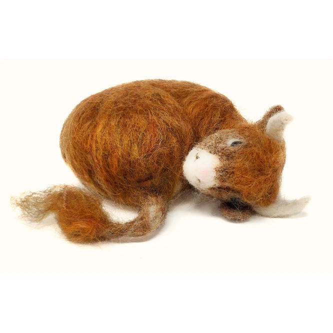 Felting Kit: Sleepy Highland Calf
