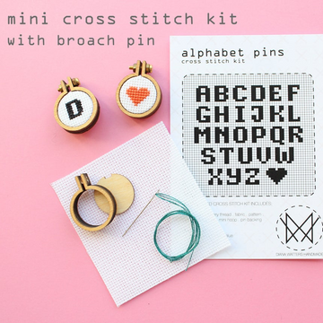 Diana Watters Alphabet Pin Cross Stitch Kit
