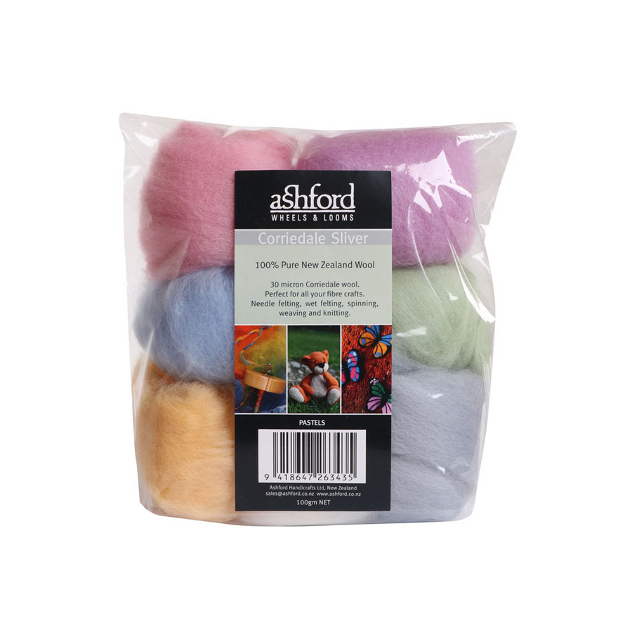 Ashford Corriedale Sliver Colour Pack