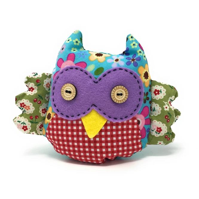 Sewing Kit: Patchwork Owl