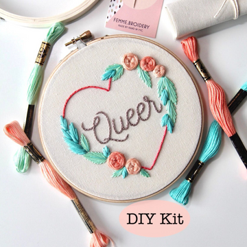 Femmebroidery Embroidery Kit | Queer