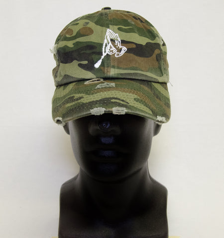Distressed Hat - Camo