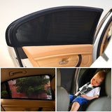 Car Shade Window Net (Prevent Ultraviolet - Prevent Mosquitoes) Size S M L XL Black Color