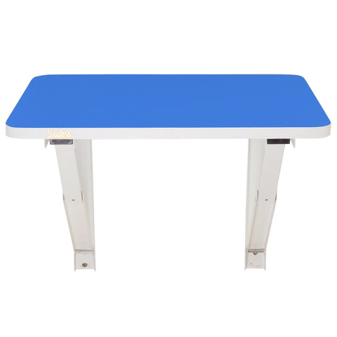 Wall Folding laptop table with blue finishing | Wudore