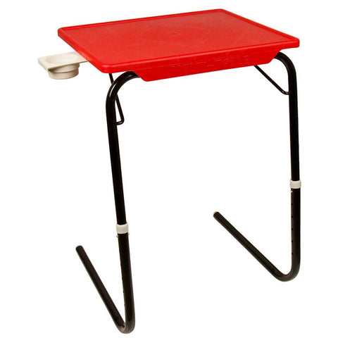 Detachable and foldable table with cup holder | Wudore