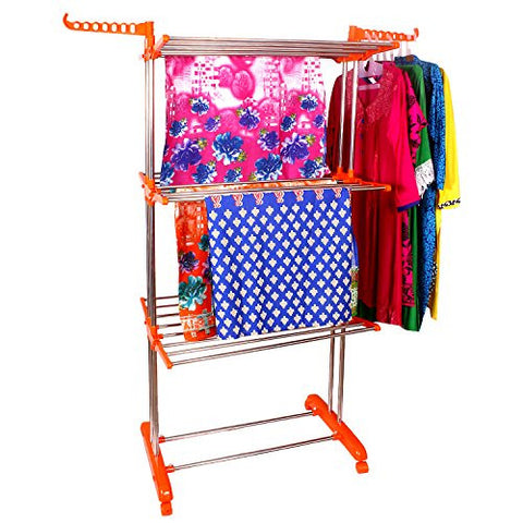 Cloth drying stand Orange variant I Wudore.com