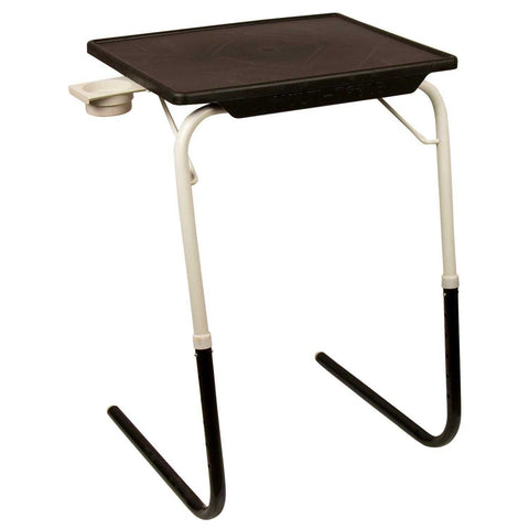 Multipurpose Tablemate - Black Top with Black & White Legs | Wudore