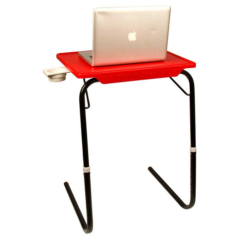 Laptop Tablemate with Black legs and red finishing | Wudore