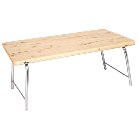 Laptop Table With Folding Steel Legs - Light Oak | Wudore