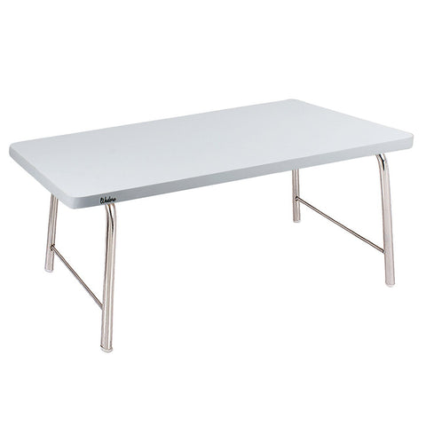 Laptop Table With Folding Steel Legs - White | Wudore